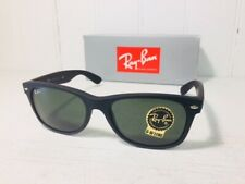 RAY-BAN RB2132 622 NEW WAYFARER Matte Black Rubber w/Green G-15 55mm Suns $144