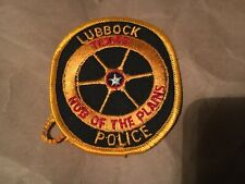 LUBBOCK TEXAS POLICE patch NB