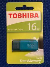 Toshiba Pendrive 16GB USB 2.0 Hayabusa Turquesa USB Flash Drive