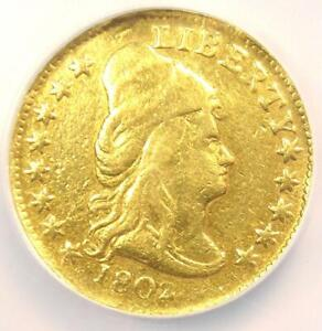 1802/1 Capped Bust Gold Quarter Eagle $2.50 Coin - NGC VF Details - Rare Date!