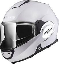 LS2 Valiant FF399 Solid Modular Motorcycle Helmet Flip Up Gloss White XS