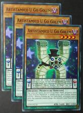 Set 3X ARTISTAMICO U GO GOLEM   LEDD-ITC10 Pendulum Comune Italiano YUGIOH