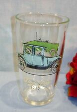 Vintage Anchor Hocking 1915 Studebaker 1914 Maxwell Old Cars Drinking Glass