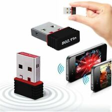 USB 2.0 Wireless WiFi Network Receiver Card Adapter 150Mbps For Desktop PC