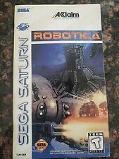Sega Saturn Robotics Game Instruction Manual Only