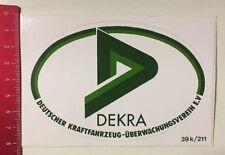 Aufkleber/Sticker: DEKRA - Dt. Kraftfahrzeug Überwachungsverein E.V. (23031617)