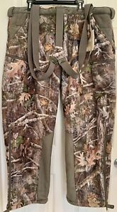 NWT RedHead SCENTINEL Tundra Suede Pants With Suspenders for Men Size 2XL