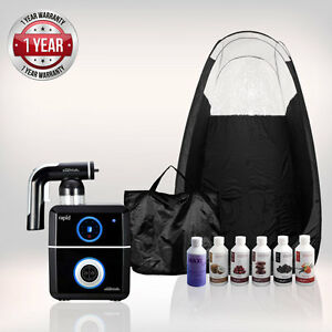 Tanning Essentials Rapido Completo Spray Marroncino Kit 'Nero' + Tenda + suntana