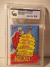 1984-85 O Pee Chee Hockey Wax Pack GAI Gem Mint 9.5 Yzerman RC NHL Collectible