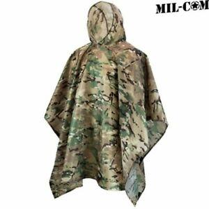 Camo Waterproof Windproof SAS Military Style Rain Poncho - Bivi Basha Shelter