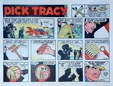 Dick Tracy by Chester Gould - large half-page color Sunday comic - Oct. 28, 1973