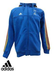ADIDAS mens hooded sweatshirt hoodie top  S M blue UEFA champions league 2016