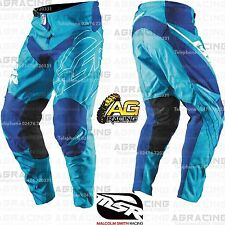 MSR 2017 Adult Axxis Cyan White Blue Race Pants 32 Inch Motocross Enduro Quad