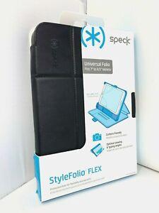 "NEW OEM Speck StyleFolio FLEX Universal Folio Case for 7"" to 8.5"" Tablets BLACK"