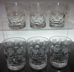 Set of Six (6) Edinburgh Crystal LOCHNAGAR 5oz Whisky Glasses, Script Mark