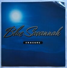"Erasure - Blue Savannah - Mute Records Picture Sleeve 7""  Single MUTE 109 EX/VG+"