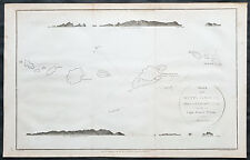 1799 James Wilson Antique Map of Duff or Wilson Islands, Santa Cruz Solomons Is.