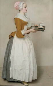 Jean Etienne Liotard The Chocolate Girl Poster Reproduction Giclee Canvas Print