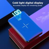 900000mAh Portable Qi Wireless Power Bank USB Battery For iPhone Charger Type C