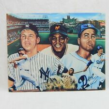 Mickey Mantle Duke Snider & Willy Mays Print By Robert Stephen Simon 1986 (B)
