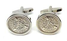 1930 90th Birthday Silver threepence coin cufflinks - Great gift idea