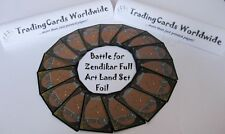 Battle for Zendikar Complete Full Art Land Set Foil // 25|25 // NM-EX // engl.