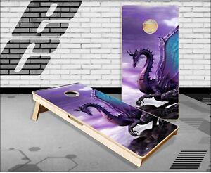 Purple Dragon Cornhole Boards Bean Bag Toss Game
