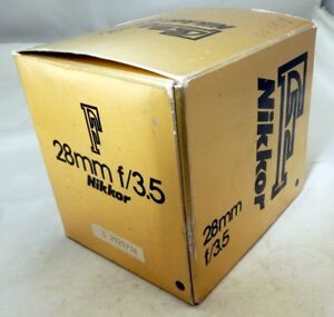 Empty box for Nikon 28mm f3.5 Ai-s Nikkor lens foam insert guide manual vintage