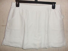 NWT WOMENS FASHION BUG WHITE KNIT SKORT  SIZE L