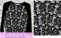 NWT Lularoe Size Large Black White Nightmare Disney Randy Women's Shirt Top