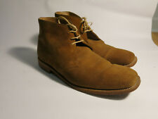 Loake Trapper Made in England UK 8 G US Men's 9 9.5 Tan Suede Chukka Boots
