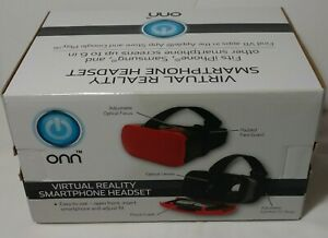 ONN VIRTUAL REALITY SMARTPHONE HEADSET - RED - NEW IN BOX!!