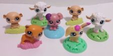 Littlest Pet Shop Mcdonald's Happy Meal Toys Cake Toppers Lot of 7 Bobble Heads