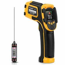 Infrared Thermometer Non-Contact Digital Laser Temperature Gun Color Display