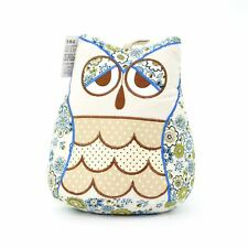 Cute White Flower Design Owl Door Stopper Fabric Doorstop Heavy Home Decor Gift