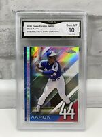 2020 Topps Chrome Update A Numbers Game Refractor HANK AARON #NGC-25 GMA Gem 10