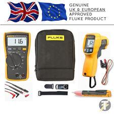 Fluke 116 TRMS HVAC Multimeter KIT98, 62 MAX PLUS Thermometer, 1AC, TPAK3, Case