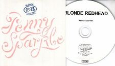 BLONDE REDHEAD Penny Sparkle 2010 UK 10-trk watermarked promo test CD 4AD