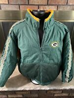 Vintage Green Bay Packers NFL Football Puffer Puffy Jacket Mens Sz XXL Game Day