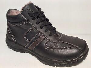 Zapatos Botas Hombre Art 80 con Negro Piel Sint Botines Invierno Guarnición Lana