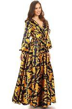 Chain print, long sleeve maxi dress