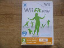 Nintendo Wii Juego-Wii Fit Plus + instrucciones más puntos sin usar Club