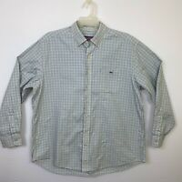 Vineyard Vines Tucker Whale Blue Plaid Button Up Long Sleeve Men's Shirt XL