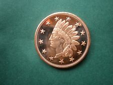 1877 INDIAN HEAD CENT #2 1oz COPPER ROUND