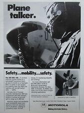 9/1981 PUB MOTOROLA AN/ARC-188 WIRELESS INTERCOM US AIR FORCE BOEING TANKER AD