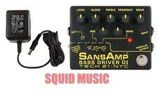 Tech 21 NYC SansAmp Bass Driver DI Pre-amp Stomp Box (FREE ADAPTER POWER SUPPLY)