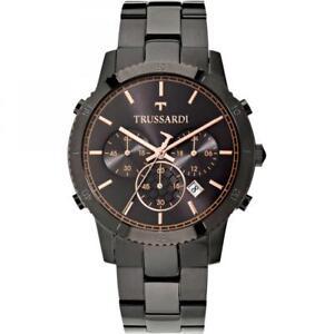 Mens Wristwatch TRUSSARDI T-STYLE R2473617001 Chrono Stainless Steel Black