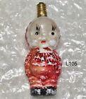 Vtg 1920's Milk Glass Christmas Tree Bulb Girl Snowsuit Japan Untested