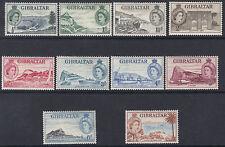 GIBRALTAR :1953 Definitive  1/2d -1/- SG 145-154 mint