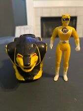 "Vintage 1995 Saban Power Rangers Yellow Ranger 4"" Action Figure With Vehicle"